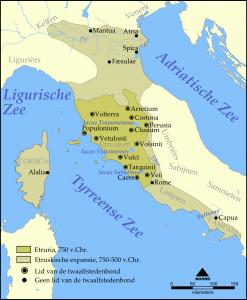 Leefgebied van de Etrusken, Etrurië
