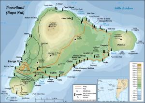 Kaart van Paaseiland