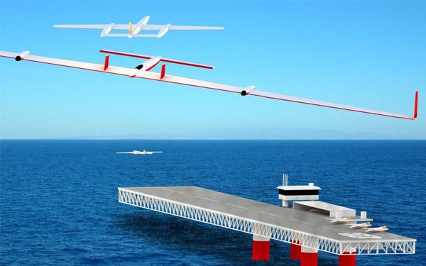 Een elektrisch vliegtuig werpt accu's uit, terwijl de nieuwe accu's al onderweg zijn. Afbeelding: Flightofthecentury.com.