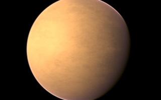Gliese 581d. Afbeelding: PHL @ UPR Arecibo / NASA / IPAC IRSA / IAU / Sky & Telescope.