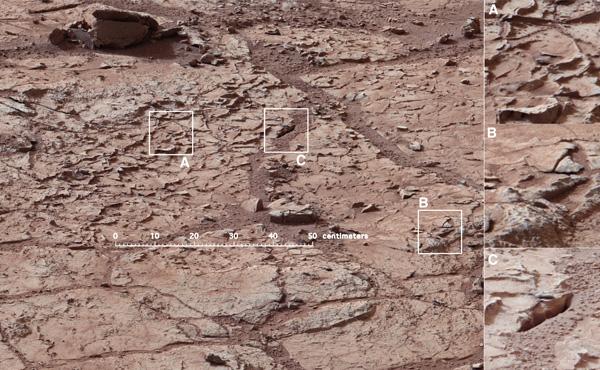De steen waarmee Curiosity straks aan de slag gaat. Afbeelding: NASA / JPL-Caltech / MSSS.