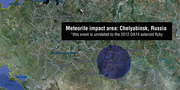 Het getroffen gebied. Foto: Google Earth / NASA / JPL-Caltech.