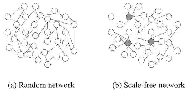Het internet is een zogenoemd 'schaalvrij netwerk'. Dat wil zeggen dat niet alle punten in dat netwerk evenveel connecties hebben. In plaats daarvan zijn er enkele punten die hele goede connecties hebben. In zo'n netwerk is geen 'typisch knooppunt' aan te wijzen, omdat ze allemaal weer anders zijn. Afbeelding: Carlos Castillo / University of Chile (via Wikimedia Commons).