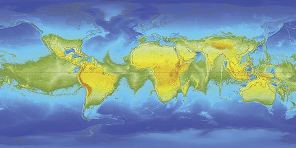 Als de aarde stopt met draaien, komt de landkaart er heel anders uit te zien. Afbeelding: Witold Fraczek.