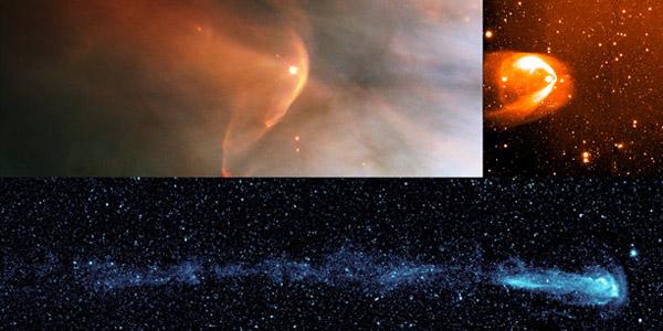 De staarten van andere sterren. Afbeelding: NASA / HST / R.Casalegno / GALEX.