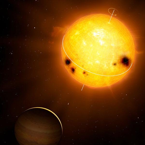 De ster en planeet. Afbeelding: Mark A. Garlick / markgarlick.com