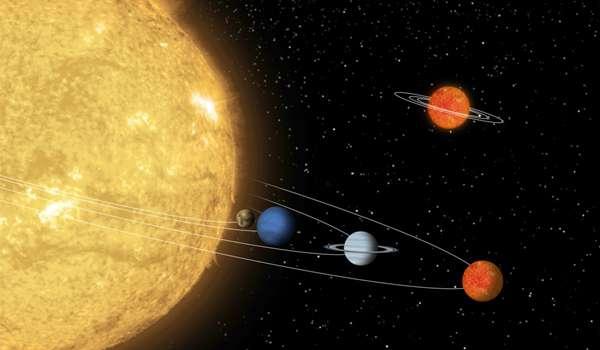 55 Cancri heeft vijf planeten om zich heen draaien. 55 Cancri e staat het dichtst bij de ster. Afbeelding: NASA / JPL-Caltech.