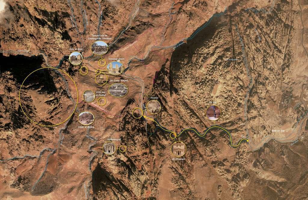 Kaart van Petra.