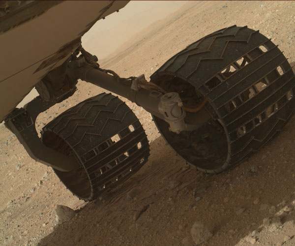 Daar sta je dan..op Mars! Foto: NASA / JPL-Caltech / Malin Space Science Systems.