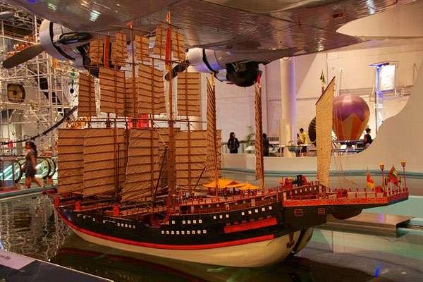 Een model van de grootste schepen waarmee Zheng He voer. Foto: Mike Peel (www.mikepeel.net).