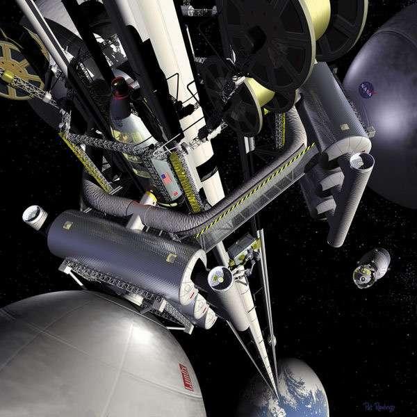Ook NASA heeft wel eens gespeeld met het idee van een ruimtelift. Afbeelding: NASA.