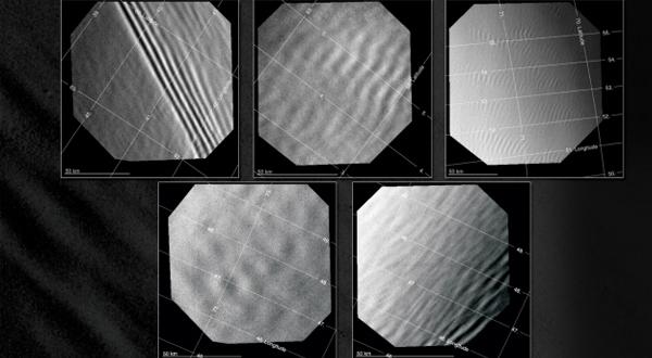 Afbeeldingen: ESA / Venus Express / VMC / A. Piccialli et al., 2014.