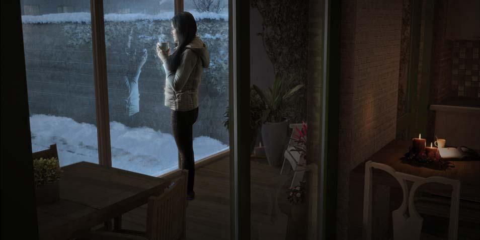Het huis in de winter. Afbeelding: Prêt-à-Loger / TU Delft.