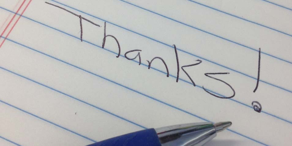 bedankt