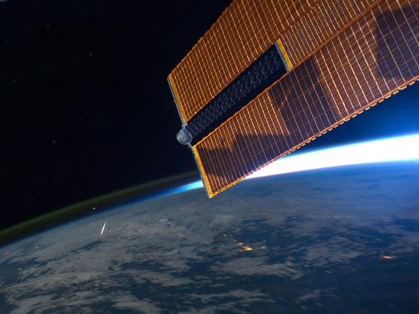 Ook vanuit het internationale ruimtestation zijn de Perseïden zichtbaar.