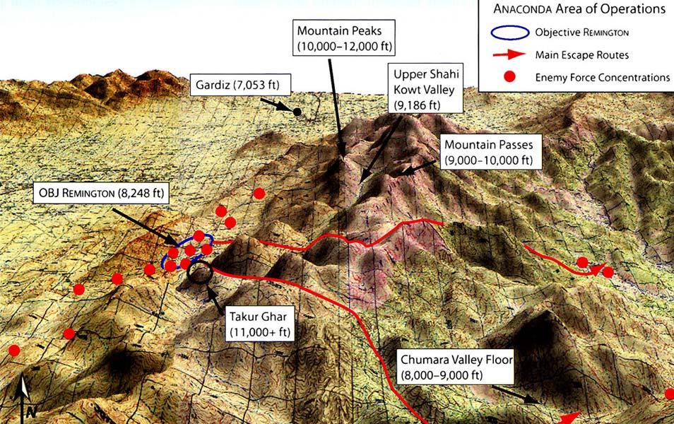 Een kaart van het betreffende gebied. Afbeelding: US Army.