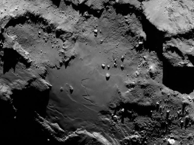 Afbeelding: ESA / Rosetta / MPS for OSIRIS Team MPS / UPD / LAM / IAA / SSO / INTA / UPM / DASP / IDA.