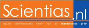 Het eerste logo van Scientias.nl in 2009.