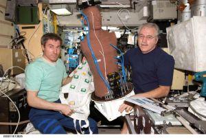 MATROSHKA aan boord van het internationale ruimtestation.