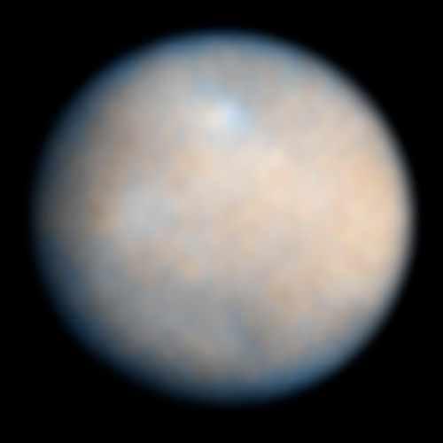 Deze foto maakte Hubble van dwergplaneet Ceres. De foto's die Dawn gaat maken, zullen dit kiekje doen verbleken. Afbeelding:  NASA / ESA / J. Parker (Southwest Research Institute) / P. Thomas (Cornell University) / L. McFadden (University of Maryland, College Park) / M. Mutchler & Z. Levay (STScI).