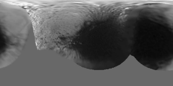 De oude kaart van Iapetus.