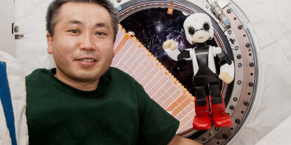 In 2013 stuurde Japan een robotje naar het internationale ruimtestation om de astronauten gezelschap te houden. Afbeelding: Kibo Robot Project.