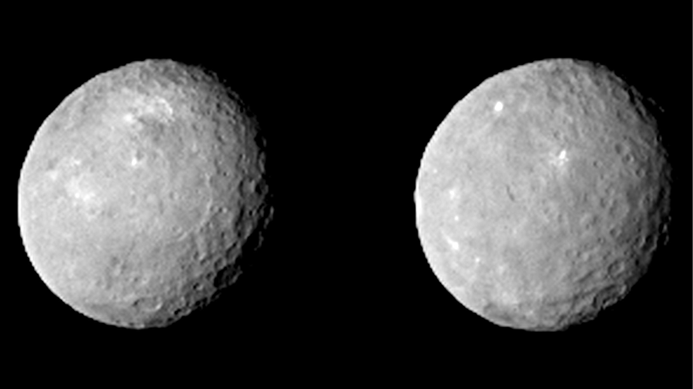 De beelden die Dawn vorige week van Ceres maakte. Afbeelding: NASA / JPL-Caltech / UCLA / MPS / DLR / IDA.