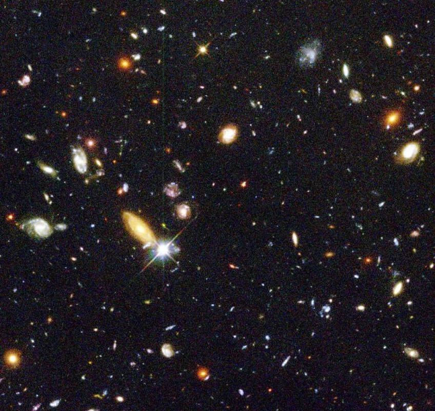 Hubble Deep Field. Afbeelding: Robert Williams / the Hubble Deep Field Team (STScI) / NASA.