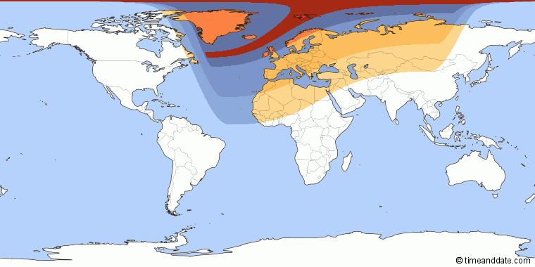 De gedeeltelijke zonsverduistering is vandaag in heel Europa zichtbaar.