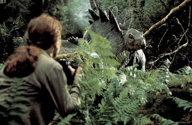 Jonge stegosaurus in Jurassic Park.