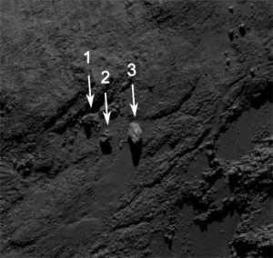 Klik voor een vergroting. Bron: ESA/Rosetta/MPS for OSIRIS Team