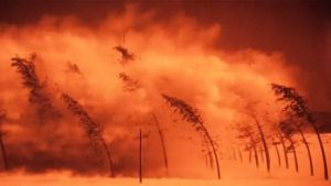 Een superstorm vernietigt alles op het oppervlak van de aarde.