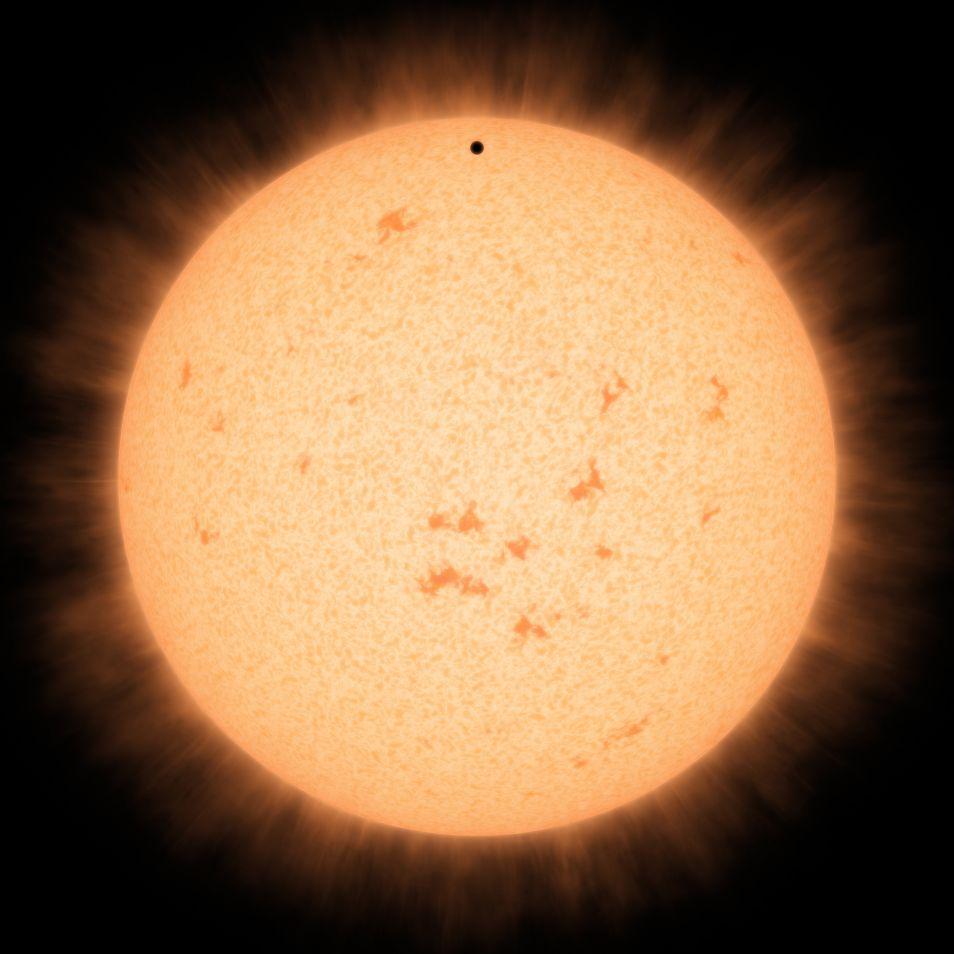 HD219134b beweegt voor de moederster langs. Afbeelding: Robert Hurt.