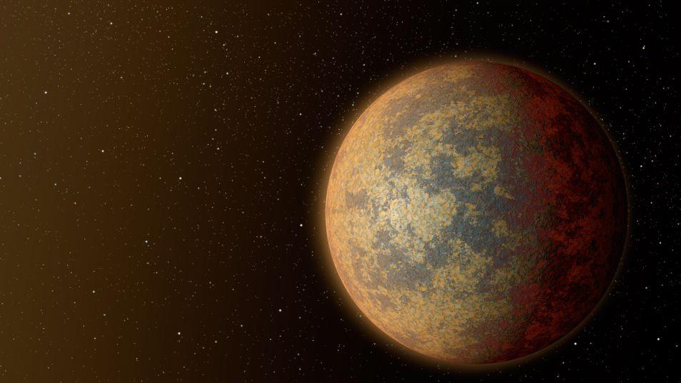 de rotsachtige planeet die het dichtst bij de ster staat