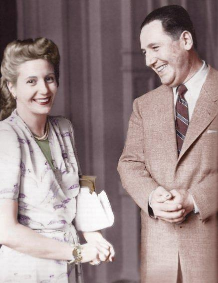 Evita en Juan Perón.