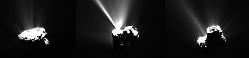 Foto's: ESA / Rosetta / MPS for OSIRIS Team MPS / UPD / LAM / IAA / SSO / INTA / UPM / DASP / IDA.
