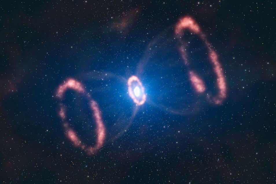 Eén van de bekendste supernova's is 1987a. Deze supernova, die in 1987 verscheen, was de eerste in 383 jaar die met het blote oog waarneembaar was. De explosie vond echter niet plaats in onze Melkweg, maar in de Grote Magelhaense Wolk. Dit is een driedimensionale reconstructie van de centrale delen van het uitgestoten materiaal.