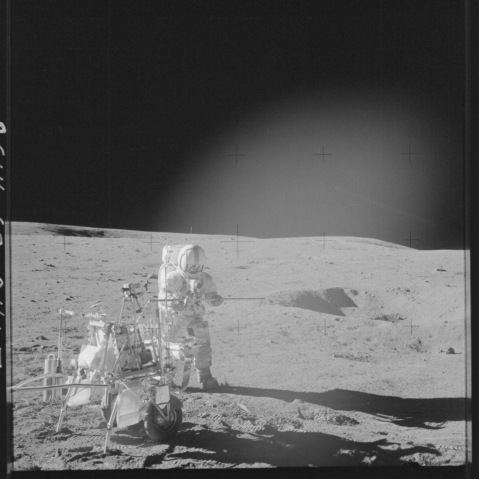 Deze foto werd gemaakt tijdens de Apollo 14-missie. Afbeelding: NASA.