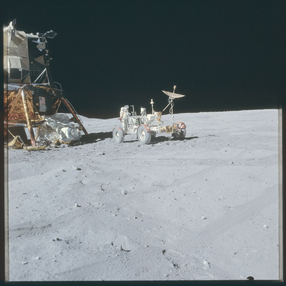 Deze foto werd gemaakt tijdens de Apollo 16-missie. Afbeelding: NASA.