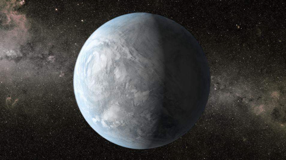 Artistieke impressie van Kepler-62e.