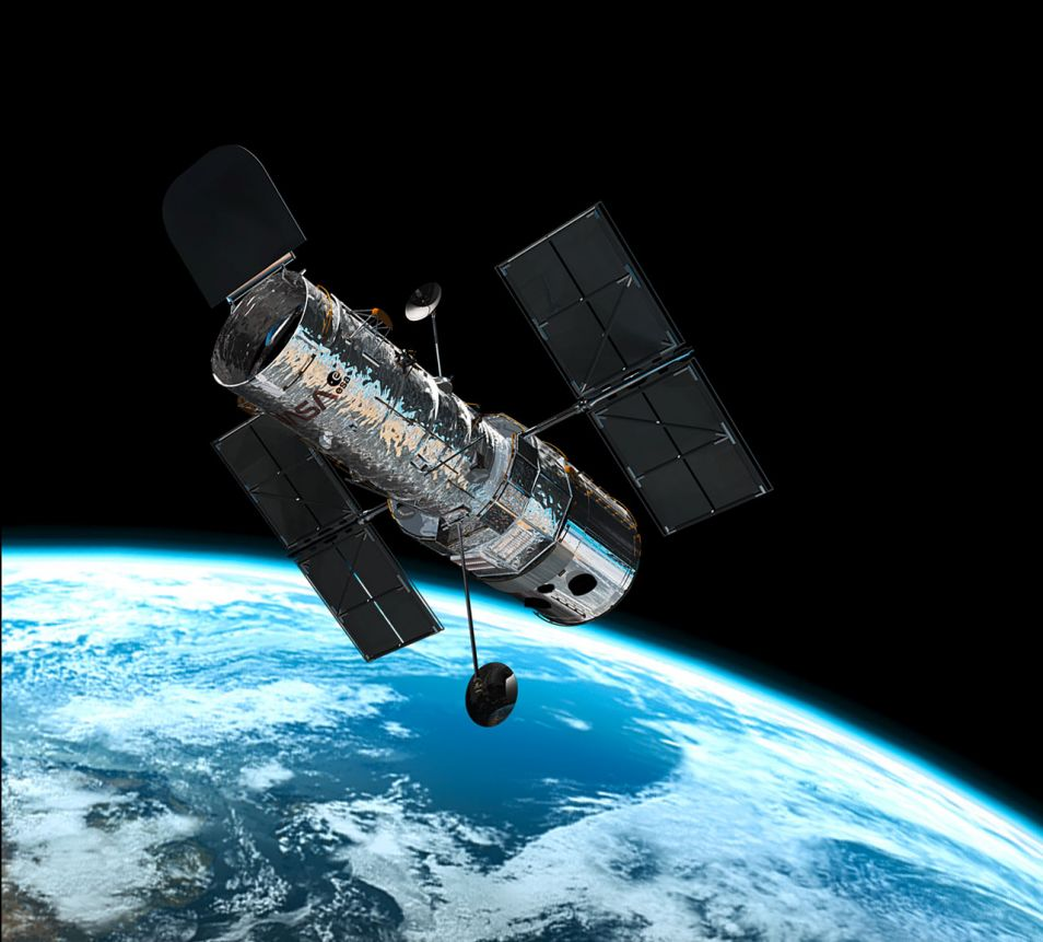 Ruimtetelescoop Hubble. Afbeelding: ESA.