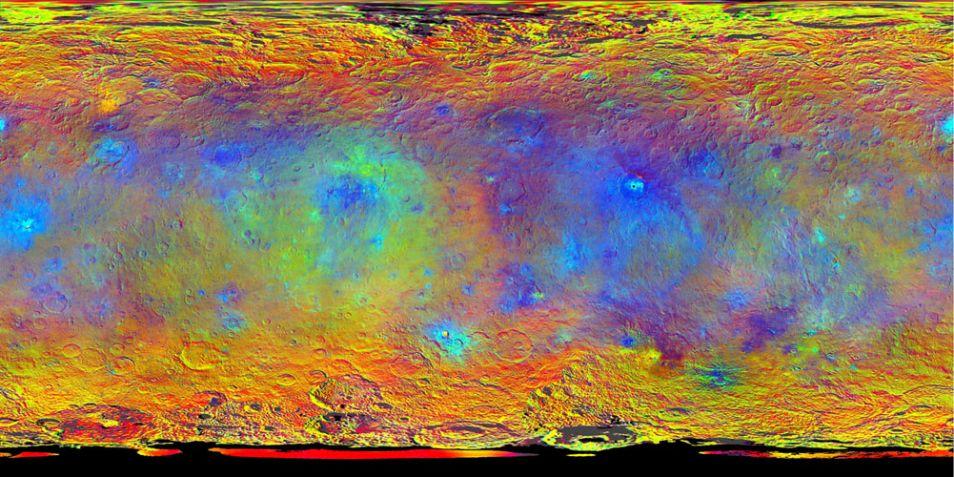 Valse kleurenkaart van Ceres
