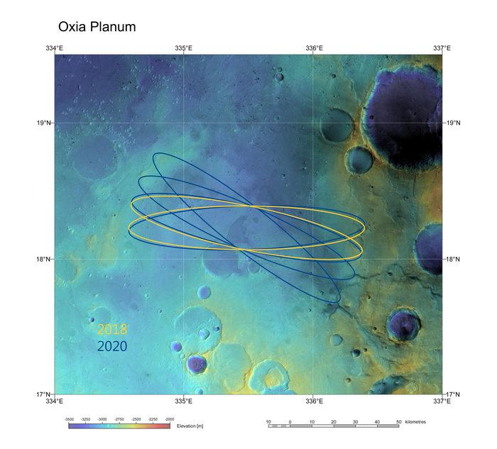 Oxia Planum is ook te bereiken als de lancering twee jaar wordt uitgesteld.