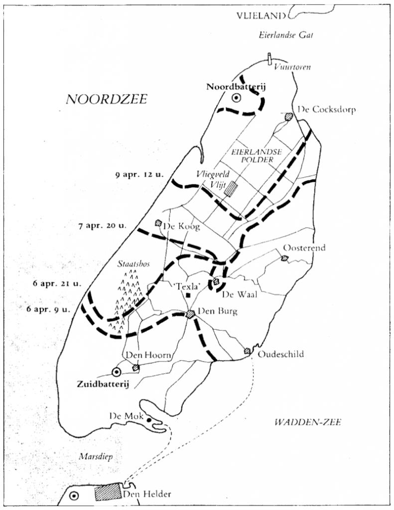 De lijnen geven aan welk gebied de Georgiërs in handen hadden. Ze werden in enkele dagen naar het noorden gedwongen door de Duitsers.