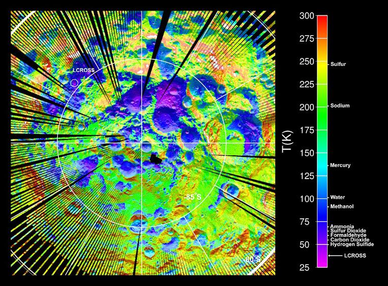 Temperatuur van het maanoppervlak