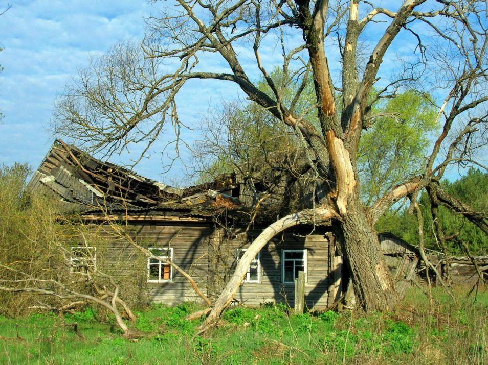 Een verlaten huis nabij Tsjernobyl. Afbeelding: Valeriy Yurko.
