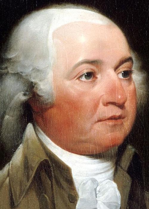John Adams. Afbeelding: John Trumbull.