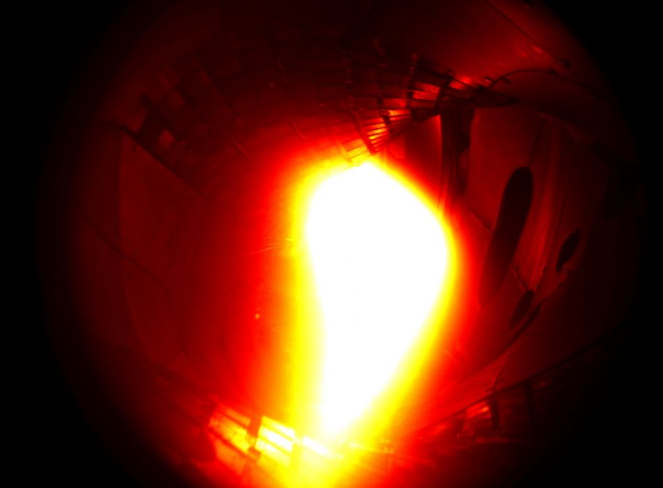 Het plasma op de gevoelige plaat vastgelegd.