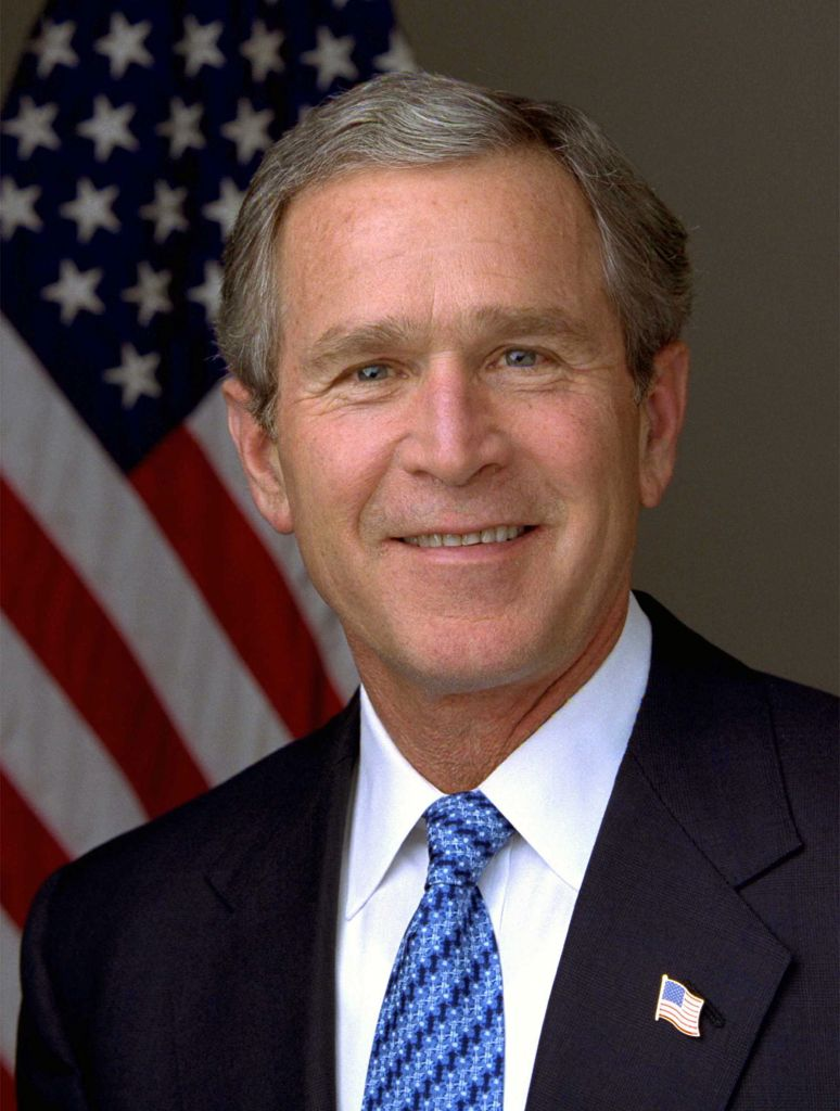 Tijdens de verkiezingen in 2000 wist Al Gore de meeste stemmers achter zich te krijgen, maar won George W. Bush (te zien op de foto) de verkiezingen, omdat hij meer kiesmannen verwierf. Afbeelding: Eric Draper.