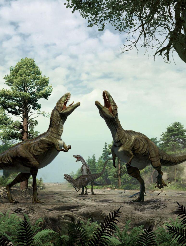 Dinosaurussen die elkaar 'dansend' het hof maken: zo moet dat er ongeveer uit hebben gezien. Afbeelding: Lida Xing / Yujiang Han / University of Colorado Denver.